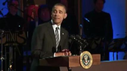 News video: Obama Flubs Spelling of 'Respect' During Aretha Franklin Introduction
